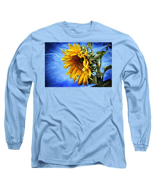 Long Sleeve T-Shirt featuring the photograph Sunflower Fantasy by Barbara Chichester