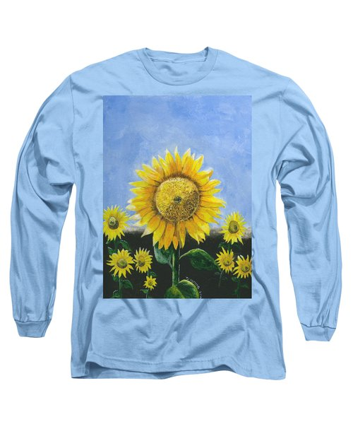 Sunflower Series One Long Sleeve T-Shirt by Thomas J Herring