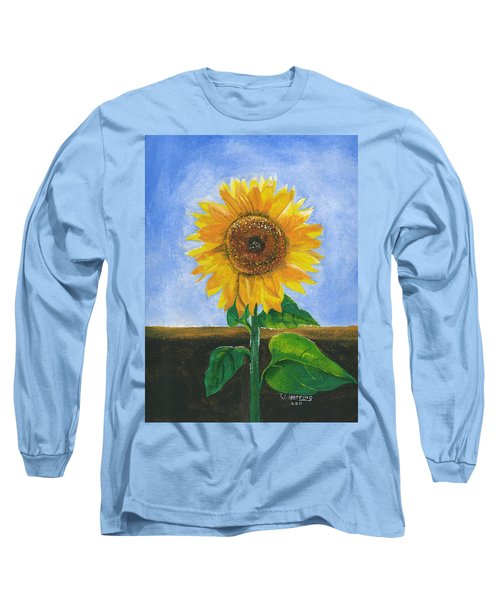Sunflower Series Two Long Sleeve T-Shirt by Thomas J Herring