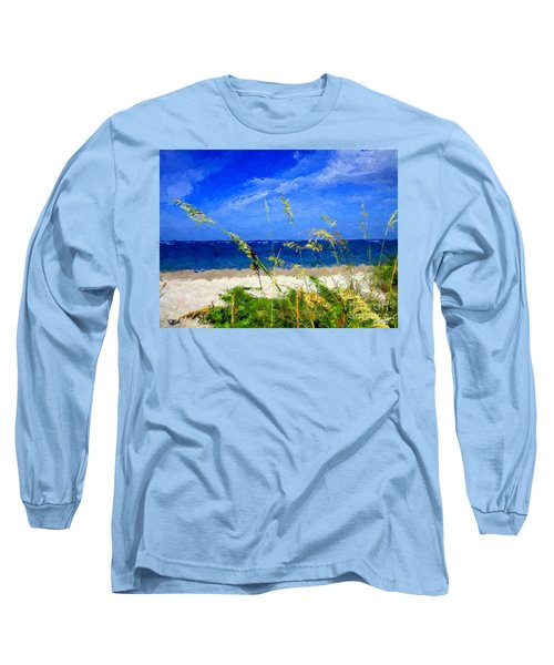 Sunlit Beachgrass Long Sleeve T-Shirt by Anthony Fishburne