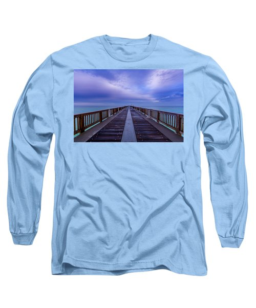 Sunrise At The Panama City Beach Pier Long Sleeve T-Shirt