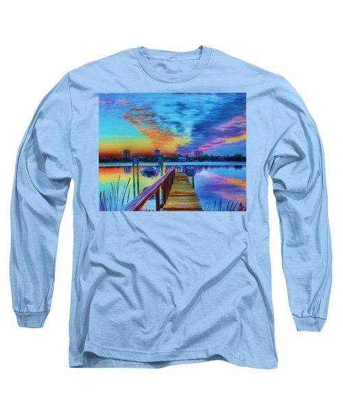 Sunrise On The Dock Long Sleeve T-Shirt