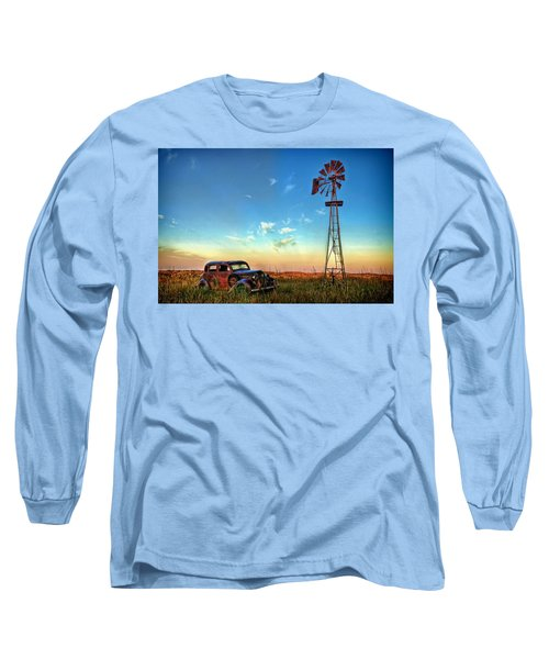 Long Sleeve T-Shirt featuring the photograph Sunrise On The Farm by Ken Smith