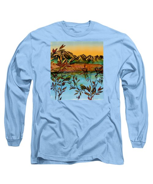 Sunrise On Willows Long Sleeve T-Shirt by Carolyn Doe
