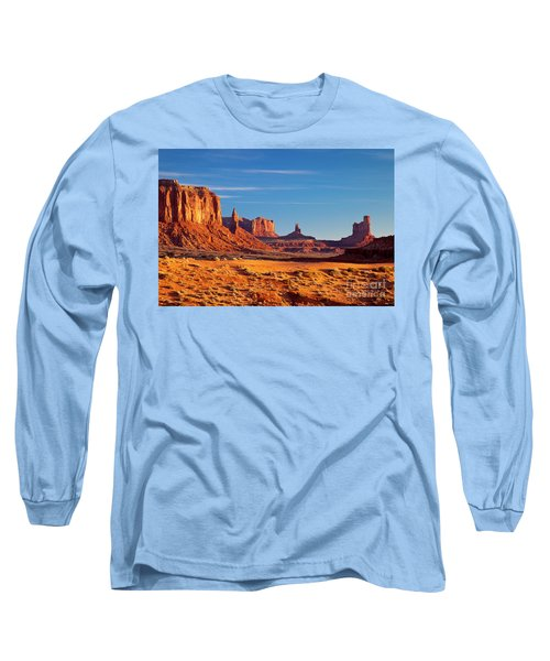 Sunrise Over Monument Valley Long Sleeve T-Shirt