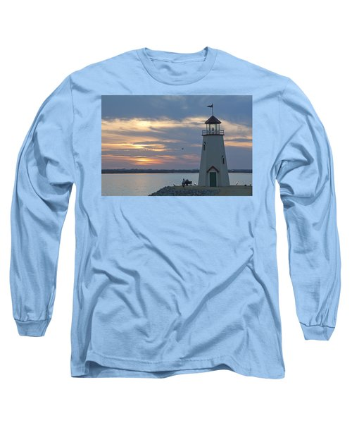 Sunset At East Wharf Long Sleeve T-Shirt