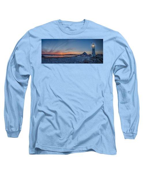 Sunset At Scituate Light Long Sleeve T-Shirt