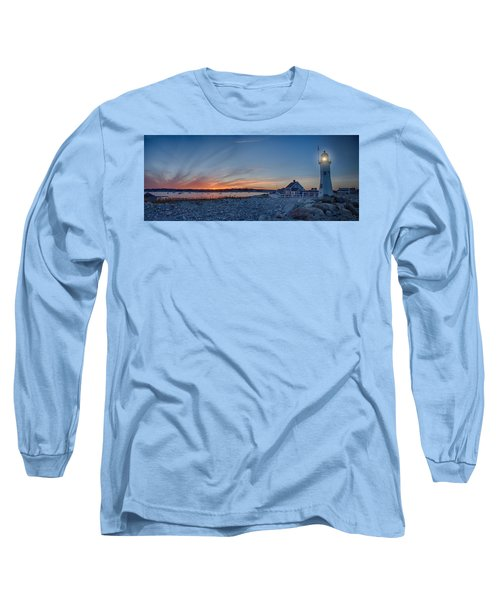 Sunset At Scituate Light Long Sleeve T-Shirt