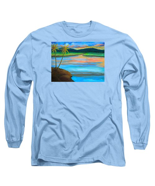 Sunset  Long Sleeve T-Shirt by Lorna Maza