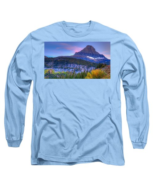Sunset On Reynolds Mountain Long Sleeve T-Shirt