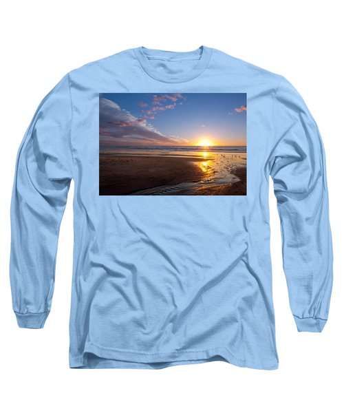 Sunset On The Beach At Carlsbad. Long Sleeve T-Shirt by Melinda Fawver