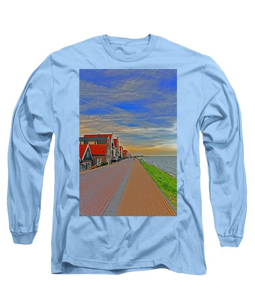 Sunset Over Volendam Long Sleeve T-Shirt