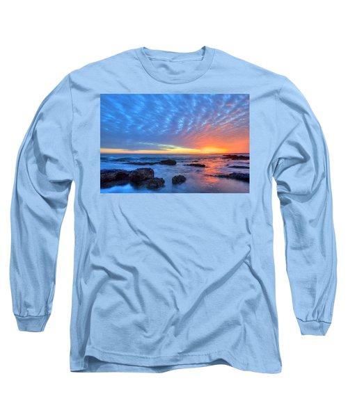 Sunset Reflections Newport Beach Long Sleeve T-Shirt