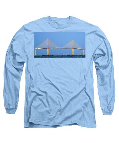Sunshine Skyway Panorama Long Sleeve T-Shirt