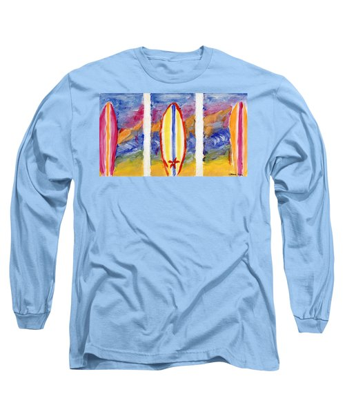 Surfboards 1 Long Sleeve T-Shirt by Jamie Frier