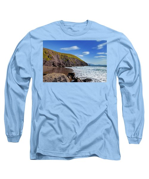 Surfers On Dun Cin Tire Beach Long Sleeve T-Shirt