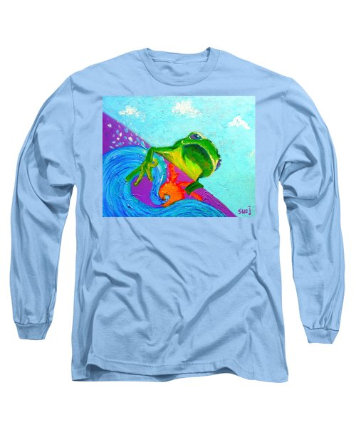 Surfing Froggie Long Sleeve T-Shirt