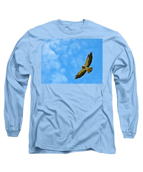 Swainson's Hawk Snake River Birds Of Prey Natural Conservation Area Long Sleeve T-Shirt