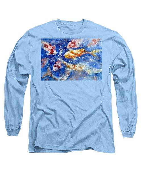 Swimming Koi Fish Long Sleeve T-Shirt