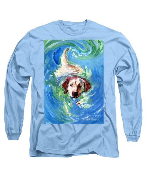 Swirl Pool Long Sleeve T-Shirt by Molly Poole
