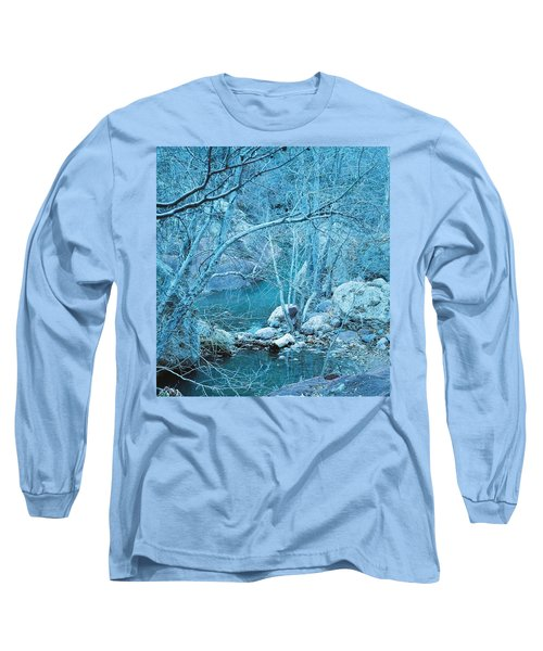 Long Sleeve T-Shirt featuring the photograph Sycamores And River by Kerri Mortenson