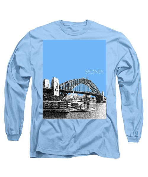 Sydney Skyline 2 Harbor Bridge - Light Blue Long Sleeve T-Shirt