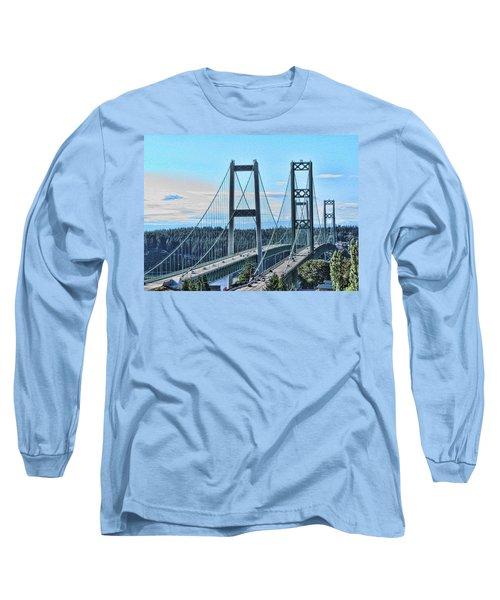 Tacoma Narrows Bridge 51 Long Sleeve T-Shirt