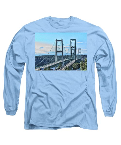 Tacoma Narrows Bridge 51 Long Sleeve T-Shirt