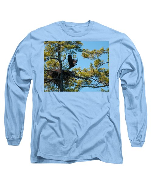 Long Sleeve T-Shirt featuring the photograph Taking Flight by Brenda Jacobs