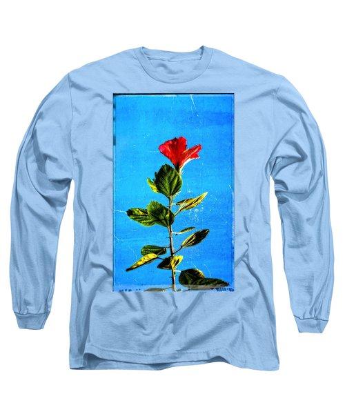 Tall Hibiscus - Flower Art By Sharon Cummings Long Sleeve T-Shirt