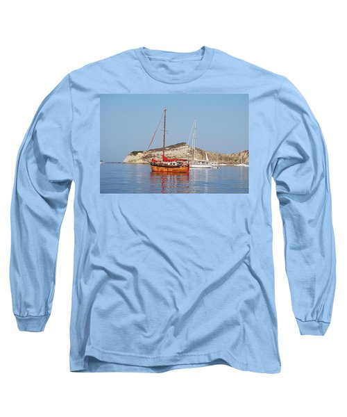 Long Sleeve T-Shirt featuring the photograph Tall Ship by George Katechis
