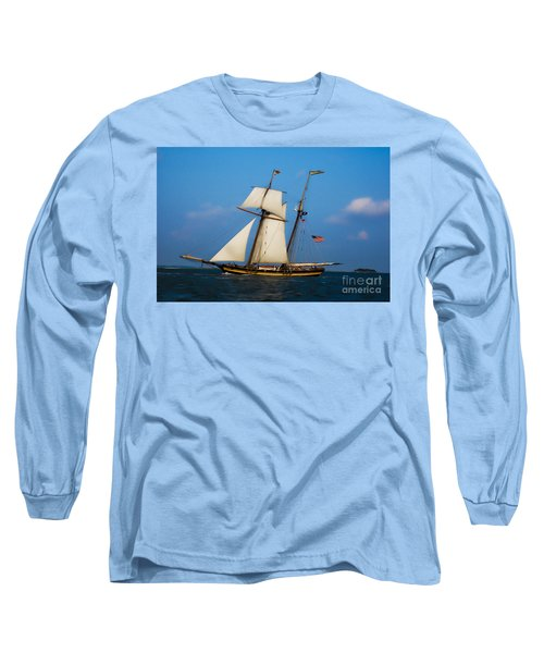 Tall Ships Over Charleston Long Sleeve T-Shirt by Dale Powell