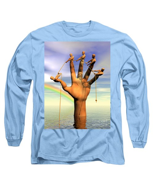The Hand Is The Sum Of Its Fingers Long Sleeve T-Shirt