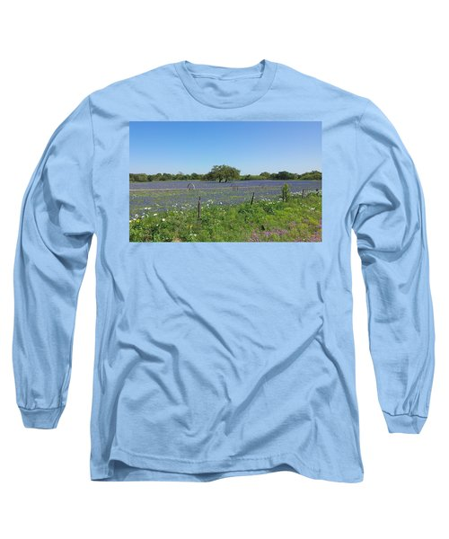 Long Sleeve T-Shirt featuring the photograph Texas Blue Bonnets by Shawn Marlow