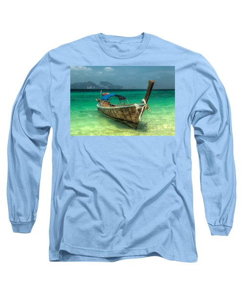 Thai Boat  Long Sleeve T-Shirt by Adrian Evans