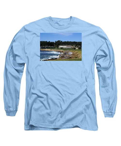 The 18th At Pebble Beach Long Sleeve T-Shirt by Barbara Snyder