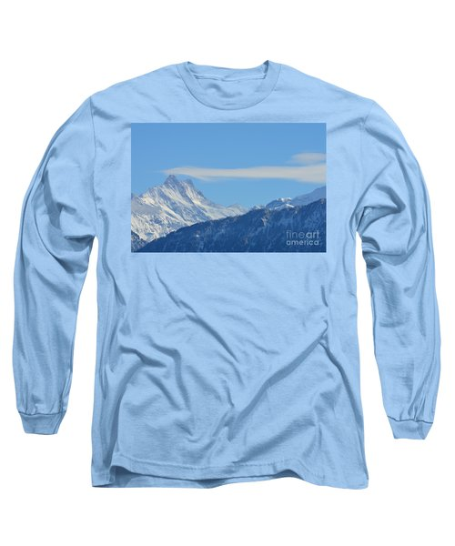 The Alps In Azure Long Sleeve T-Shirt by Felicia Tica