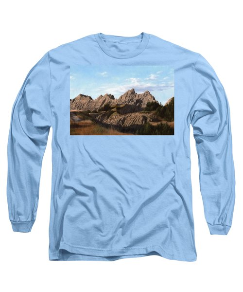 The Badlands In South Dakota Oil Painting Long Sleeve T-Shirt