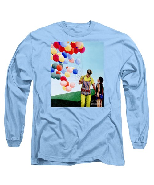 Long Sleeve T-Shirt featuring the painting The Balloon Man by Michael Swanson