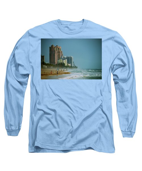 The Beach Near Fort Lauderdale Long Sleeve T-Shirt by Eric Tressler