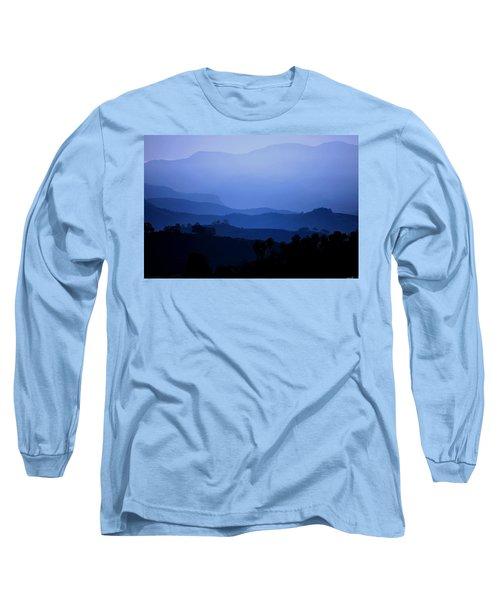 Long Sleeve T-Shirt featuring the photograph The Blue Hills by Matt Harang