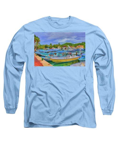 The Boats Of Hautulco Long Sleeve T-Shirt