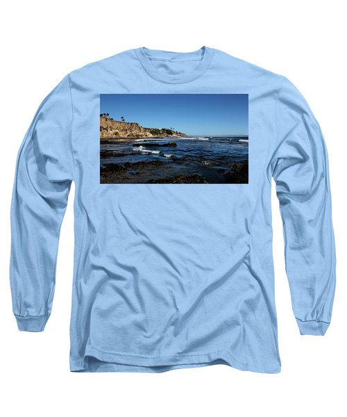 The Cliffs Of Pismo Beach Long Sleeve T-Shirt by Judy Vincent
