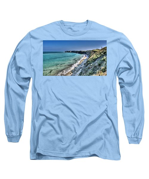 The Cliffs Of Pointe Du Hoc Long Sleeve T-Shirt