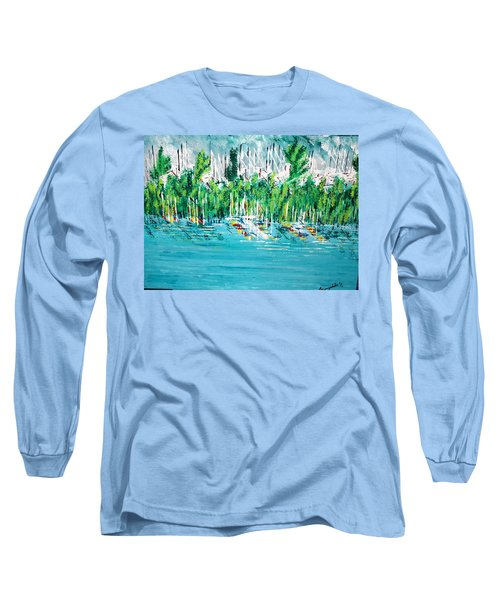 The Docks Long Sleeve T-Shirt by George Riney