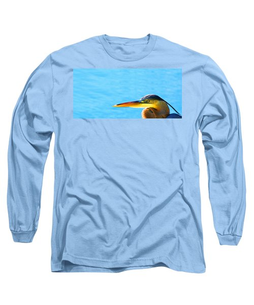 The Great One - Blue Heron By Sharon Cummings Long Sleeve T-Shirt by Sharon Cummings