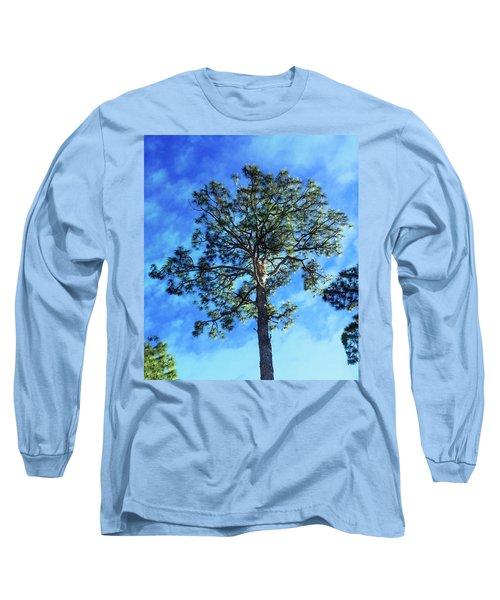 The Guardian Of The Graveyard Long Sleeve T-Shirt by Carlos Avila