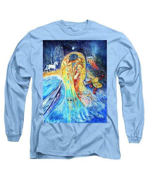 The Homecoming Kiss After Gustav Klimt Long Sleeve T-Shirt