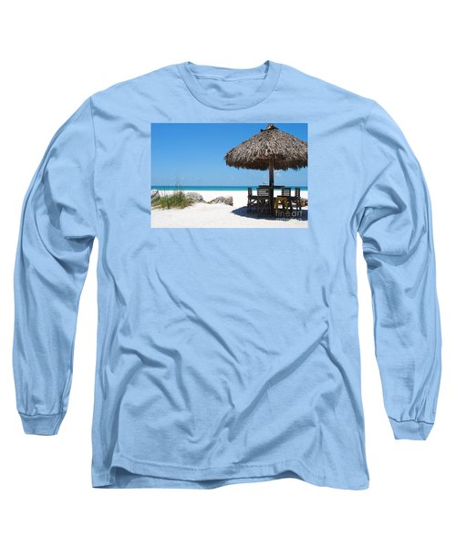 The Kokonut Hut  Long Sleeve T-Shirt by Margie Amberge