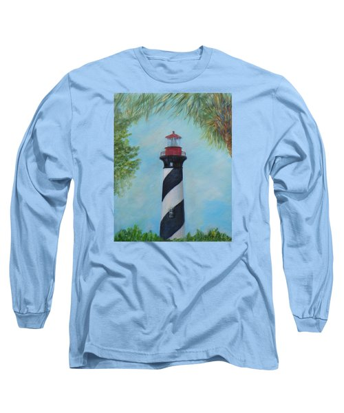 The Lighthouse In St. Augustine Florida Long Sleeve T-Shirt